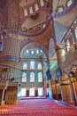 Blue mosque interior in Istanbul Turkey Stock Images