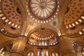 Blue mosque interior istanbul turkey internal view of Stock Photo