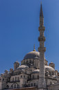 Blue mosque in istanbul detail of the with minaret Stock Photo