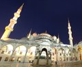 Blue mosque istanbul the by night turkey Royalty Free Stock Photography