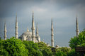 Blue mosque istanbul turkey dramatic sky Stock Photography