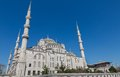 Blue mosque istanbul turkey rear view of in Royalty Free Stock Images