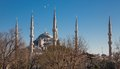 Blue mosque istanbul turkey side view of in at sunset Stock Photography