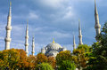 Blue mosque istanbul under the setting sun turkey Royalty Free Stock Photography