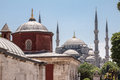 The blue mosque with its minarets in istanbul turkey Stock Photo