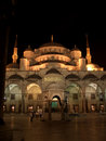 The Blue Mosque by night Royalty Free Stock Photo