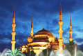 Blue Mosque at night in Istanbul - Turkey Royalty Free Stock Photo