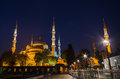 Blue Mosque at night, Istanbul. Royalty Free Stock Photo