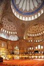 The blue mosque stunning interior of in istanbul turkey Stock Images