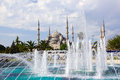 Blue mosque sultanahmet camii and fountain istanbul turkey Stock Image