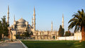 The blue mosque sultanahmet camii istanbul turkey Royalty Free Stock Photos