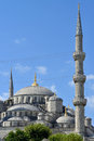 Blue mosque the sultanahmet camii istanbul turkey Stock Photography