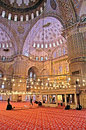 The Blue Mosque Sultanahmet Camii in Istanbul, Turkey in the evening Royalty Free Stock Photo