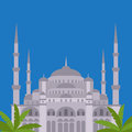 The Blue Mosque, Sultanahmet Camii, Istanbul, Turkey, middle east islamic architecture Royalty Free Stock Photo