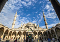 Blue mosque sultanahmet mosque istanbul turkey in bright and beautiful day in Stock Photos