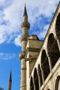 Blue mosque the towers of in istanbul turkey Stock Photos
