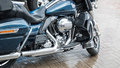 The Blue Motorcycle Royalty Free Stock Photo