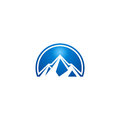 Blue mountain abstract logo