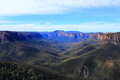 Blue Mountains landscape blue haze Royalty Free Stock Photo