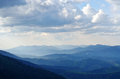 Blue Mountains Panorama Royalty Free Stock Photo
