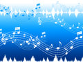 Blue music background means soul jazz or blues meaning Stock Image