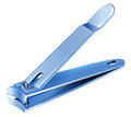 A blue nail clipper illustration of on white background Stock Images