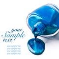 Blue nail polish Royalty Free Stock Photo
