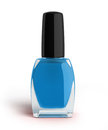 Blue nail polish bottle 3d render on white background Royalty Free Stock Photo