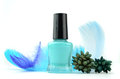 Blue Nail Polish Bottle Royalty Free Stock Photo