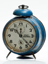 Blue navy old clock made in romania arad Stock Photography