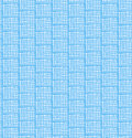Blue netting abstract pattern seamless chequered background bright decorative doodle checkered texture Royalty Free Stock Photo