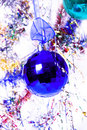 The blue new year ball Royalty Free Stock Photo