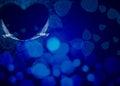Blue night love theme with love birds Stock Photos