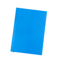 Blue notebook isolated on white Stock Images