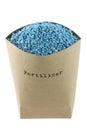 Blue NPK compound Fertilizer Royalty Free Stock Photo