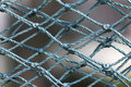 Blue nylon mesh at day Royalty Free Stock Photos