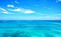 Blue ocean with blue sky horizon Royalty Free Stock Photo