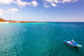 Blue Ocean and Dinghy Royalty Free Stock Photo