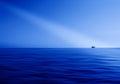 Blue ocean horizon ray of light abstraction Royalty Free Stock Photo