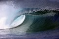 Blue ocean surfing wave Royalty Free Stock Photo
