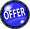 Blue offer button Royalty Free Stock Photo