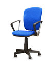 The blue office chair isolated over white Royalty Free Stock Images