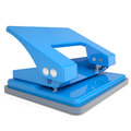 Blue office hole punch isolated render on a white background Stock Photos