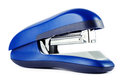 Blue office stapler isolated over white background on Royalty Free Stock Images
