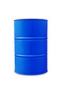 Blue oil barrel Royalty Free Stock Photo