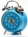 Blue old clock made in romania arad Royalty Free Stock Image