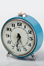Blue old clock made in urss Stock Images