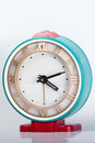 Blue old clock made in urss Royalty Free Stock Photography