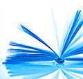 Blue open book Stock Photos