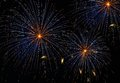Blue orange amazing fireworks explosion background in night time close up, fireworks , fireworks explode,Malta fireworks fes Royalty Free Stock Photo